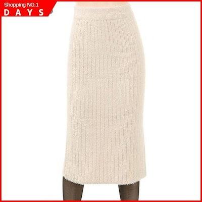 [フォーカス]シンプル・ニットロングスカート、FW8K7SK0376 /スカート/ニット/ベルベットのスカート/ 韓国ファッション