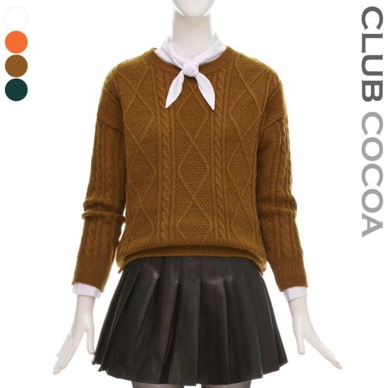 クラブココアだ揚げ菓子スリットニットCGW1KT9070 ニット/セーター/ニット/韓国ファッション