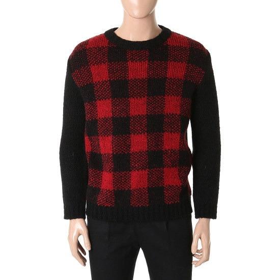 シエロチェクウルラウンドニートSAAKTU051 ニット/セーター/韓国ファッション