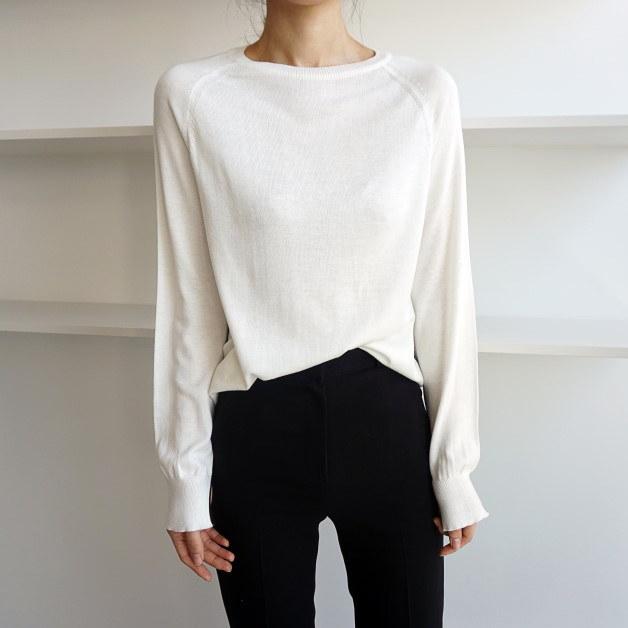 [ラルム】ベーシックラインニット3col korea fashion style