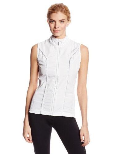 2XU Womens Elite Run Vest, White, X-Small