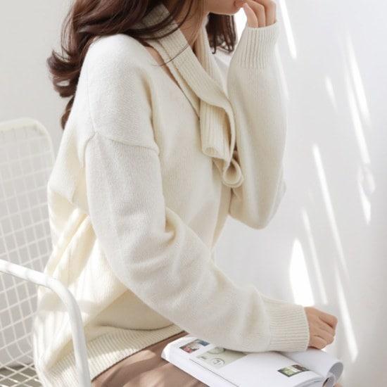 二十歳足す二十歳足すマフラーset ニット/セーター/ニット/韓国ファッション