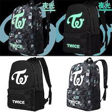韓流グッズ 応援グッズ TWICE トゥワイス バッグ 大容量 リュックサック バックパック デイパック 通勤 通学 おしゃれ かばん 鞄