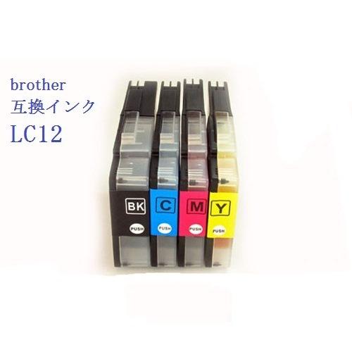 高品質 Brother 互換 インクカートリッジ LC12-4PK 4色セット☆MFC-J825N/J725N