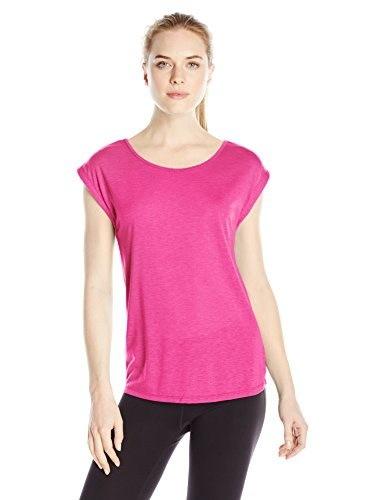 Spalding Womens Peekaboo Muscle Top, Radiant Rose, X-Large