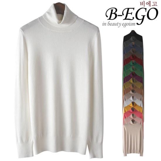 ビエコY707ベーシックニットポーラ ニット/セーター/タートルネック/ポーラーニット/韓国ファッション