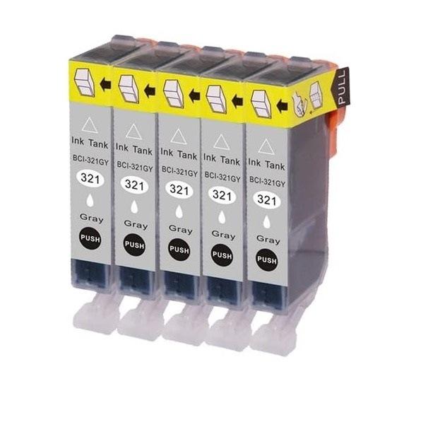 インク 【互換インク】 キャノン canon BCI-321 5個パック(グレー) PIXUS MP990 MP980 カートリッジ プリンターインク 汎用インク インクカートリッジ