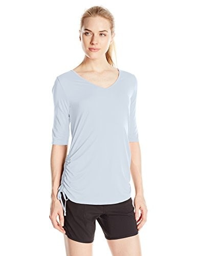 Columbia Womens Anytime Casual II Tee, Cirrus Grey, X-Small