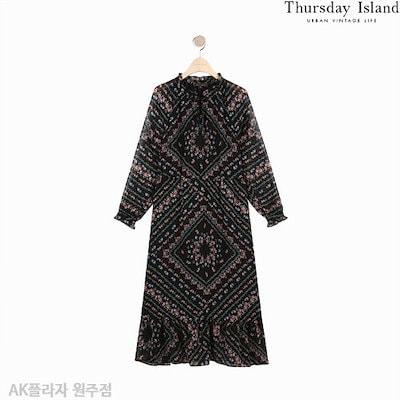 ThursdayIsland[AK公式ストア]【thursdayisland]パターンロングワンピース(T192MOP148W)