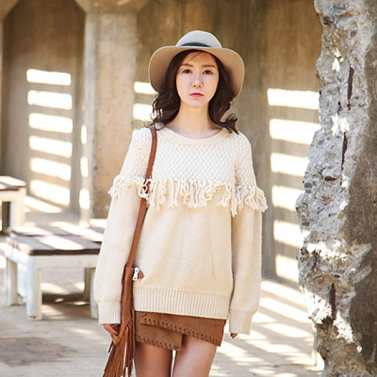 ポンジェイLuxurygirl2手術ニット ニット/セーター/ニット/韓国ファッション