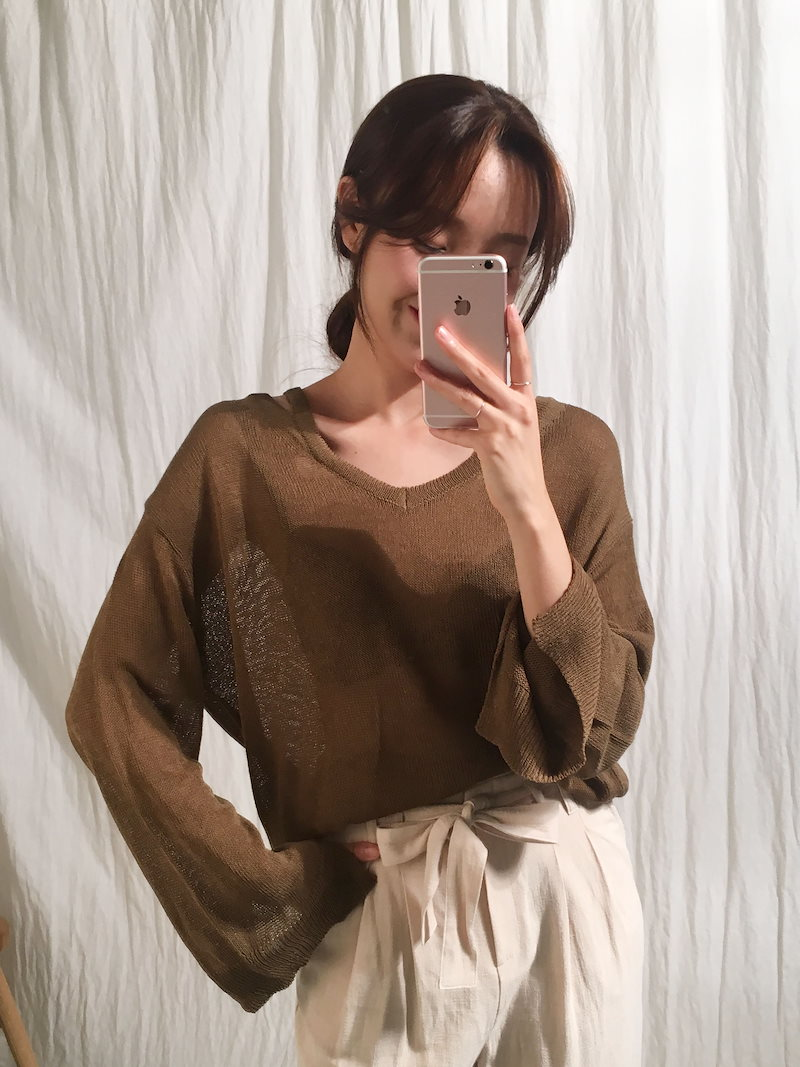 ベーグルナチュラルニットトップkorea fashion style