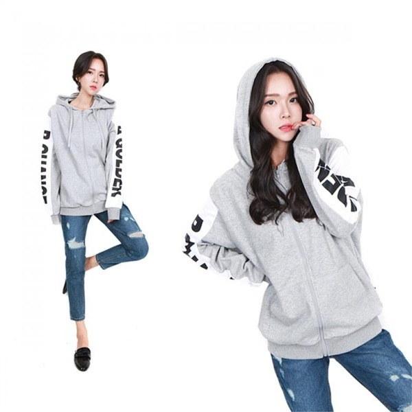 MZ、AB配色オープンフードJP 女性のコート/ 韓国ファッション/ジャケット/秋冬/レディース/ハーフ/ロング/
