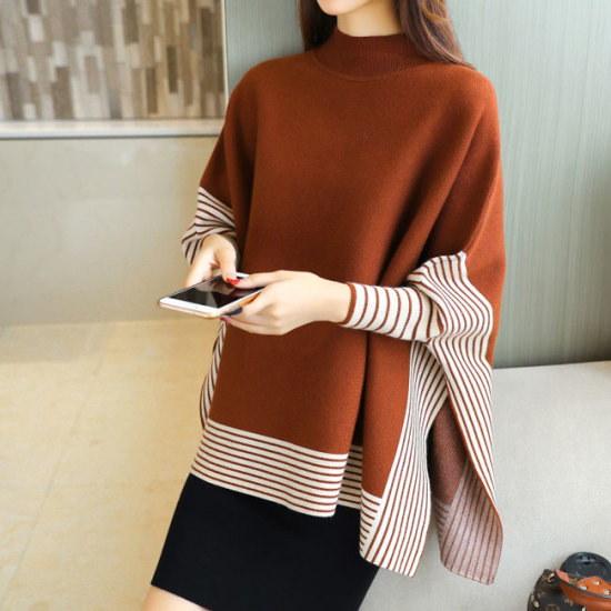 オーサムフェノールパンチョ・ニット232682 ニット/セーター/パターンニット/韓国ファッション