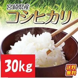 【30kgでこの価格!!】【カートクーポン使えます】【令和2年産新米】宮崎県産こしひかり 30kg(5kgx6袋) 九州山脈の寒暖差で美味しく育ったこしひかり!香りが良く程よい粘り!冷