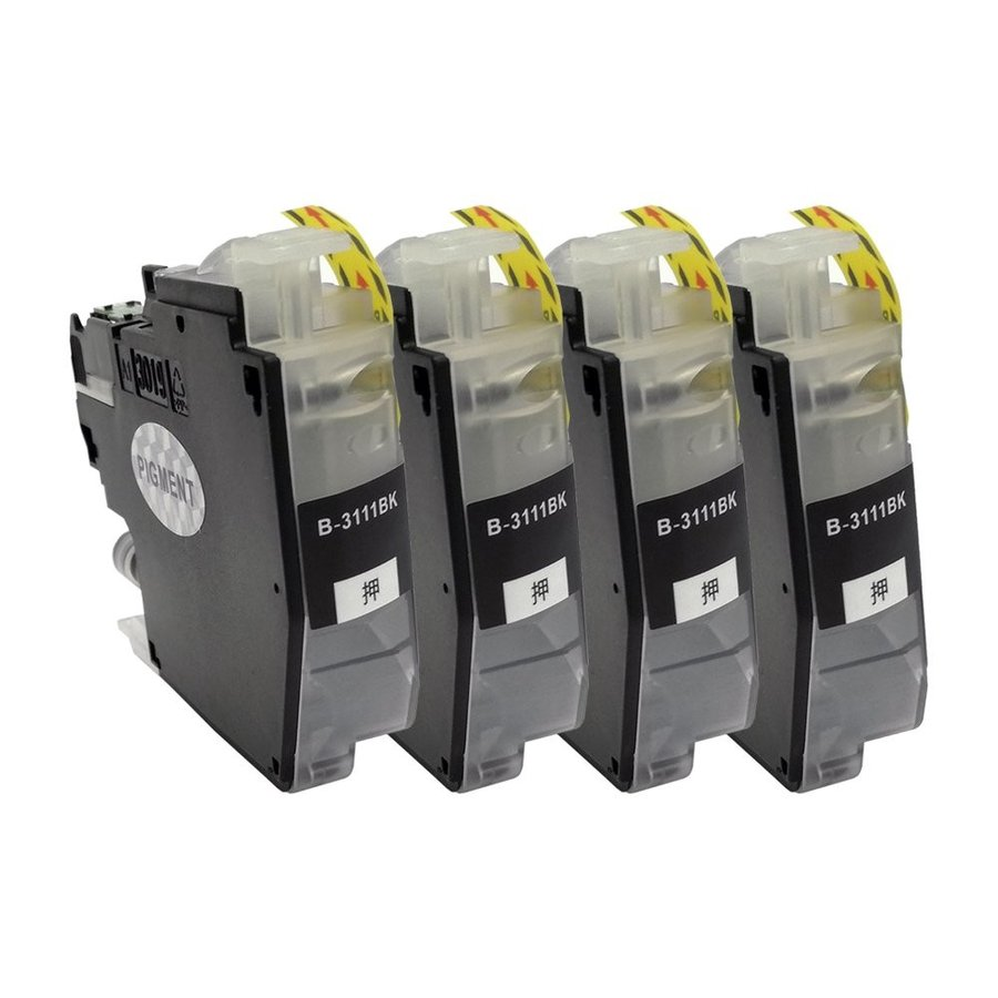 LC3111(BK/ブラック)高品質インク4本セットBR社 プリンター用互換インク ICチップ付 残量表示