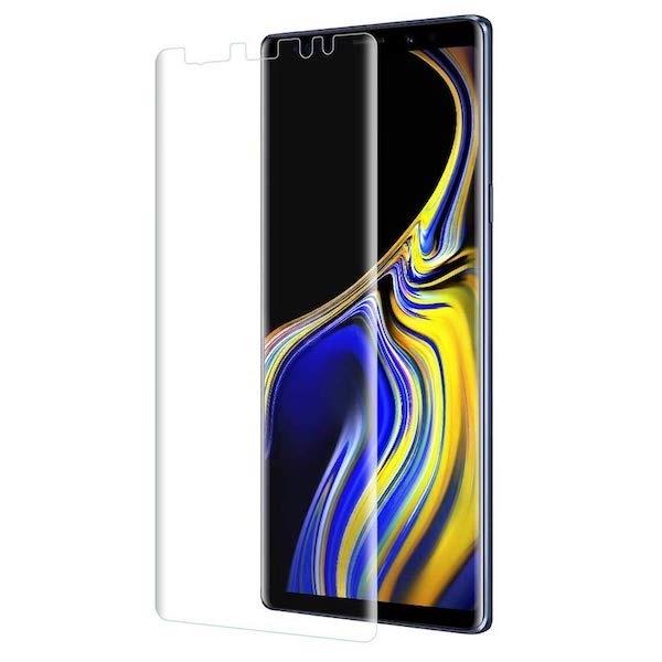 Galaxy Note9 フィルム 新素材 TPU 全面 保護 スマホフィルム 耐衝撃 ギャラクシー docomo SC-01L au SCV40 エッジまで覆える フルタイプ 3D Curved H