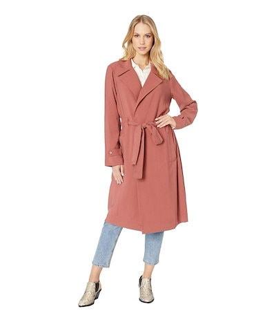 ワンステイト レディース コート アウター Soft Twill Tie Waist Trench Coat