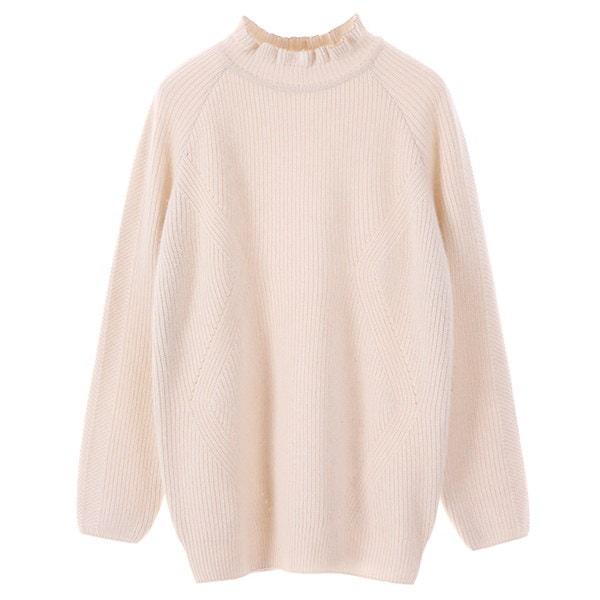 [韓国直送] 【オリーブデオリーブ] volume frill neck knit OK7WP841