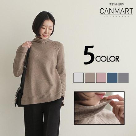 [CANMART]カシミアタートルネックニット★韓国ファッション★ C121315 ウール60%であったかニット カシミアタートルネック