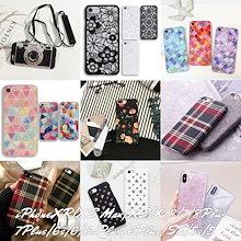 スマホケース iPhone XR XS XS Max 8 7 6 SE Plus アイフォン カメラ型 花柄 ダマスク モロッコ チェック シェル キラキラ