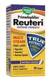 Pack of 3 x Natures Way Primadophilus Reuteri - 90 Vcaps