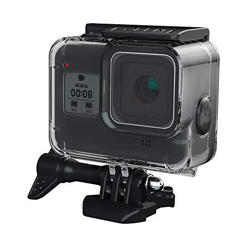 GoPro HERO 8 ブラック対応 60m水深ダイビング 防水防塵保護ハウジング Go Pro Hero8 アクションカメラ対応 (含む 12x のアンチフォグインサート 1x スクリーンプロテク