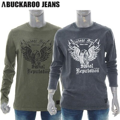 [AK公式ストア]【buckaroo jean】メンズヴィンテージRネックTシャツ(B185TS320P)