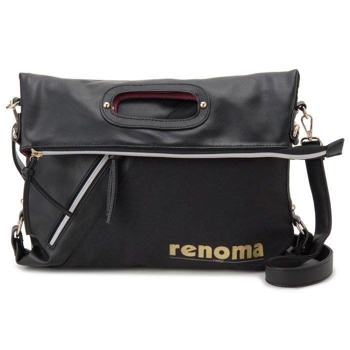 renoma レノマ ショルダーバッグ 1505007-04506T キャンバス 3WAYバッグ ブラック【送料無料】