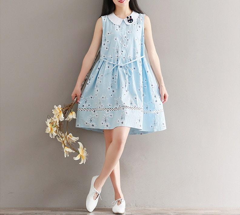 ウサギのブローチワンピースユニークでとってもキュートキューティーワンピースkorea fashion style