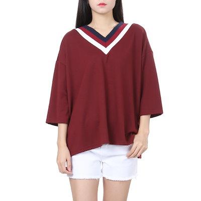 プラストーリープラスチックアイルランド絞りの飾りシャツPH3CL801 ティーシャツ / ソリッド/無知ティーシャツ / 韓国ファッション