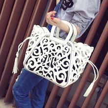 ★韓国ファッションレディースバッグ 人気バッグ /バッグ/カバン/かごバッグ/エコバッグ/旅行バッグ★レディース カバン ハンドバッグ 無地 カジュアル 親子バッグ 2wayバッグ