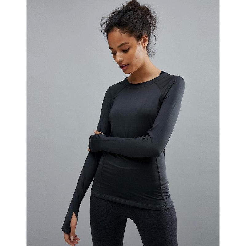 プリティリトルシング レディース トップス【PrettyLittleThing Long Sleeve Gym Top】Charcoal