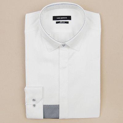 ルイカトルズ [AK公式ストア][louisquatorze SHIRTS] [Louis Quatorze Shirts]メンズ長袖スリムフィットシャツQ71801(ホワイト)