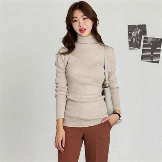 るみさん行き来するようにるみさんるみさん・ボカベーシックポーラ・ニット ニット/セーター/ニット/韓国ファッション