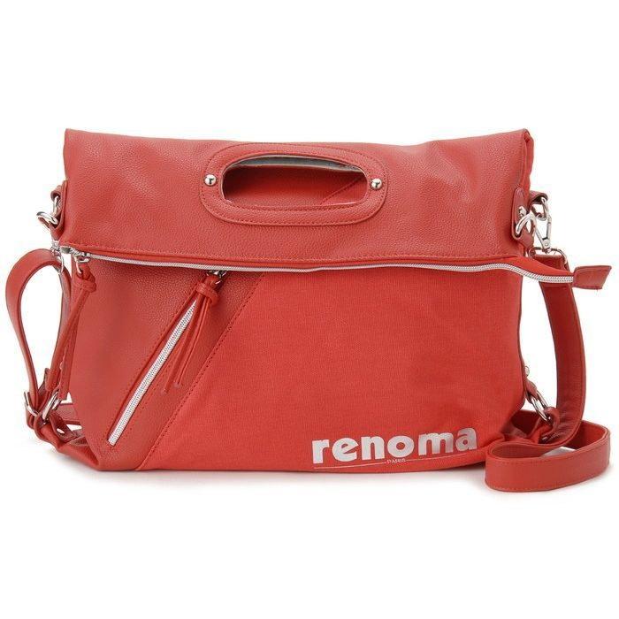 renoma レノマ ショルダーバッグ 1505007-13512 キャンバス 3WAYバッグ レッド【送料無料】