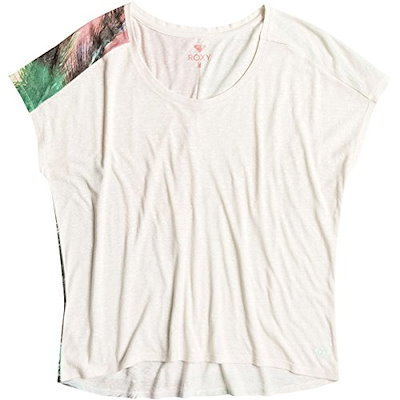 Roxy Womens Fashion Dolman Palm Sundays Top Shirt Large Sand Piper