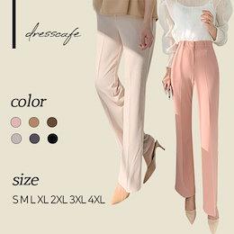 ✨DRESSCAFE✨[韓国ファッション] ♥ Limited item!♥ (6color) S~4XL マジックスラックスパンツセンタープレスパンツ