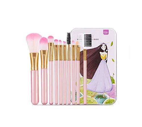 メイクブラシ10本セット化粧筆ファンデーションブラシアイシャドウチップパウダー、チークブラシ専用ボックス付き携帯便利旅行と贈り物に最適日常の化粧集まる化粧