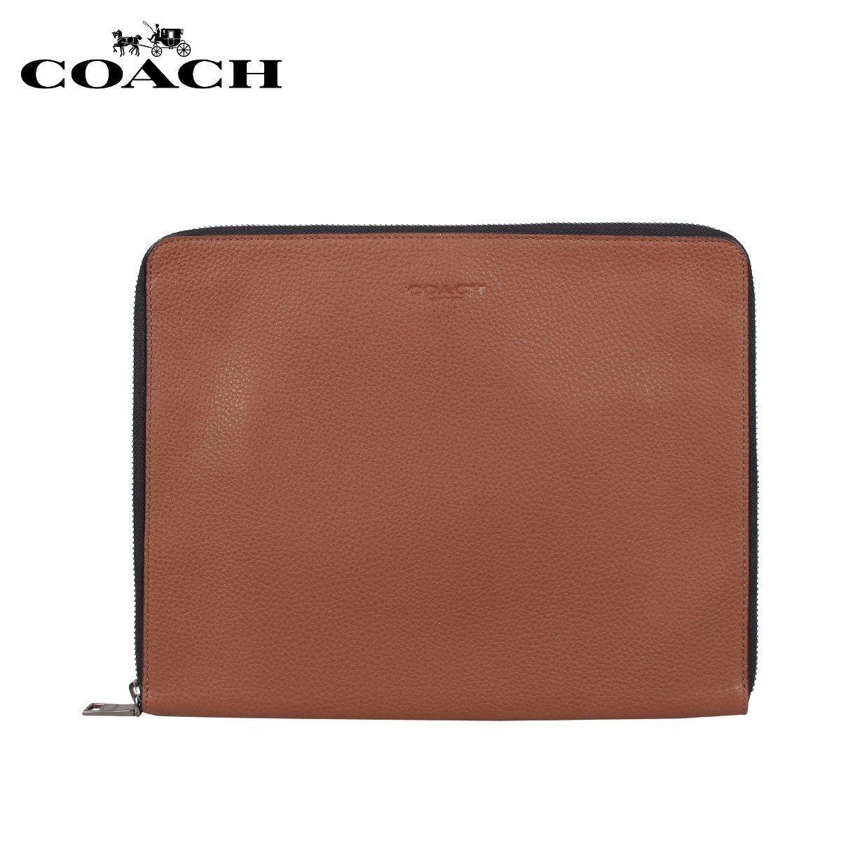 コーチ COACH バッグ クラッチバッグ セカンドバッグ タブレットケース メンズ ブラウン F25473 [3/19 新入荷]