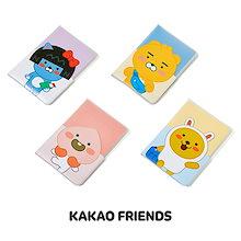 [ カカオフレンズ Kakao Friends ] リトルフレンズ 透明 パスポート ケース / クリアー カバー 旅券 トラベルポーチ 財布 旅行 便利グッズ