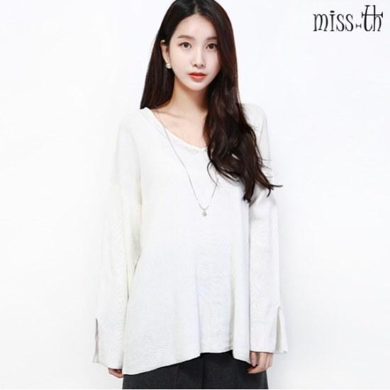 ミスティーに一Vネクオボピッ・ニット ニット/セーター/ニット/韓国ファッション