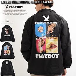 ジャケット メンズ プレイボーイ PLAYBOY レディース ジャケット ブルゾン アウター 長袖 ビッグシルエット ゆったり 大きい 大きめ オーバーサイズ ペアルック カップル お揃い 服