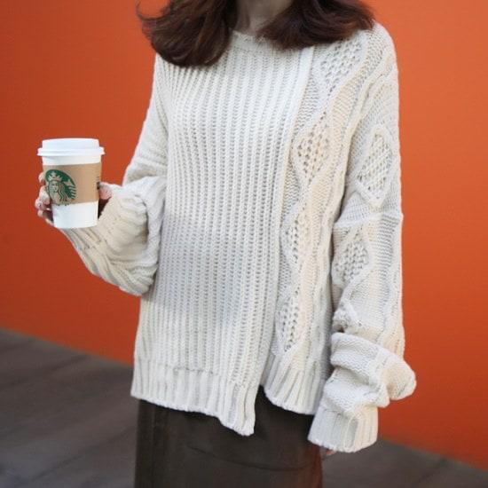 ポンジェイ半分オボピックヮベギニート3color ニット/セーター/ニット/韓国ファッション