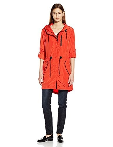 Mackage Womens Norma Anorak with Leather Detail, Flame, Large