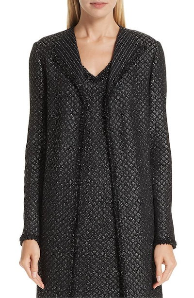 セント ジョン コレクション レディース ジャケット・ブルゾン アウター St. John Collection Shimmer Inlay Brocade Knit Jacket