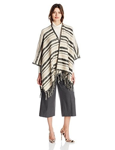Kensie Womens Tissue Knit Blanket Cardigan Sweater, Dune Combo, One Size