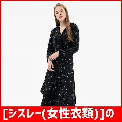 [シスレー(女性衣類)]の羽プリントロングラップワンピースSAOP38861BK /ワンピース/綿ワンピース/韓国ファッション