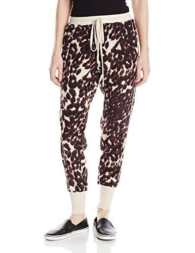 Chaser Womens Animal Print Soft Pant, Animal, Small
