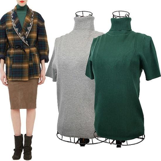 コーディネートハウスウルトチサンポルラニトゥパターンがきれいです ニット/セーター/タートルネック/ポーラーニット/韓国ファッション