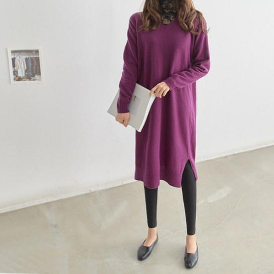 ペッパーソウル混紡ニットロングワンピース35027 ニット・ワンピース/ 韓国ファッション
